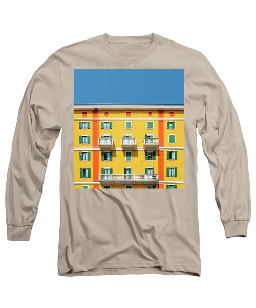 Mediterranean Colours On Building Facade Long Sleeve T-Shirt