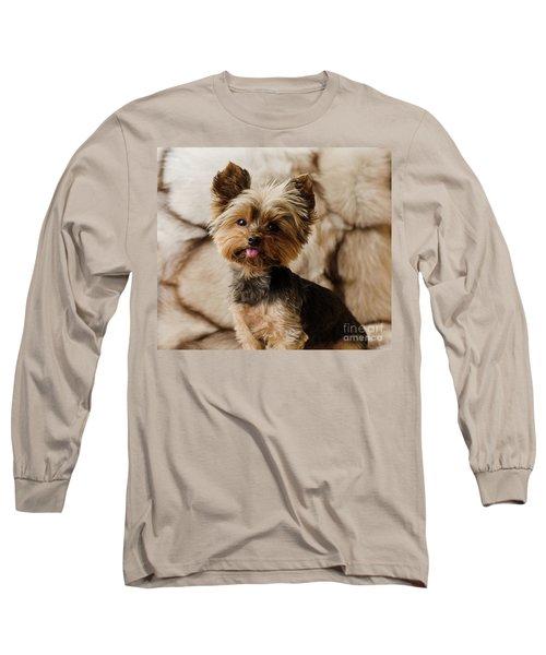 Melanie On Fur Long Sleeve T-Shirt
