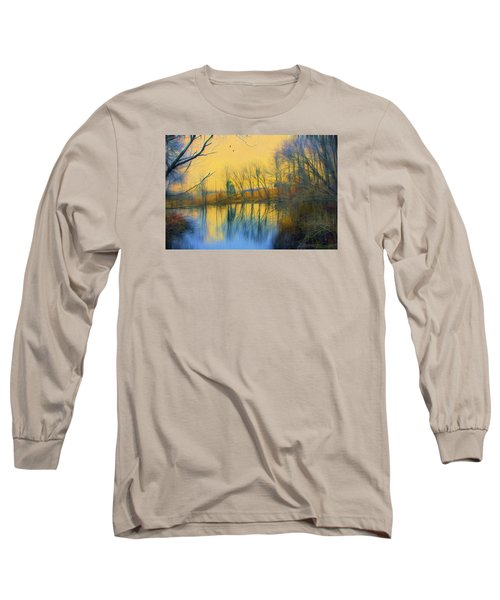 Mellow Yellow Long Sleeve T-Shirt by John Rivera