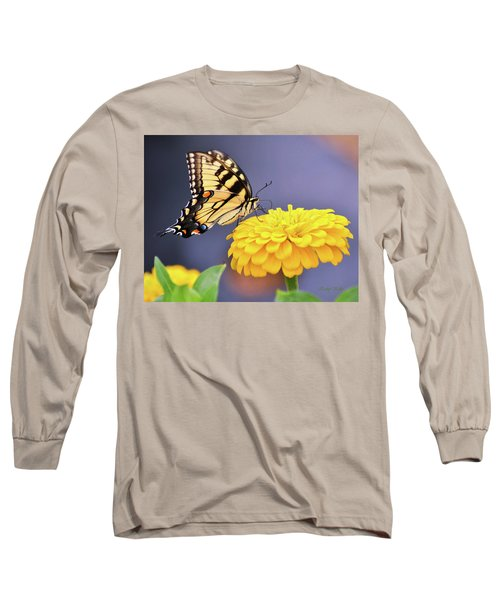Mellow Yellow Long Sleeve T-Shirt by Kathy Kelly