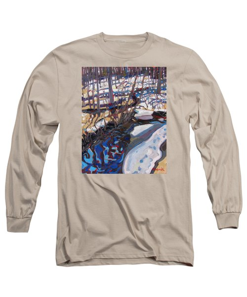Melt Water And Ice At The Forest Edge Long Sleeve T-Shirt