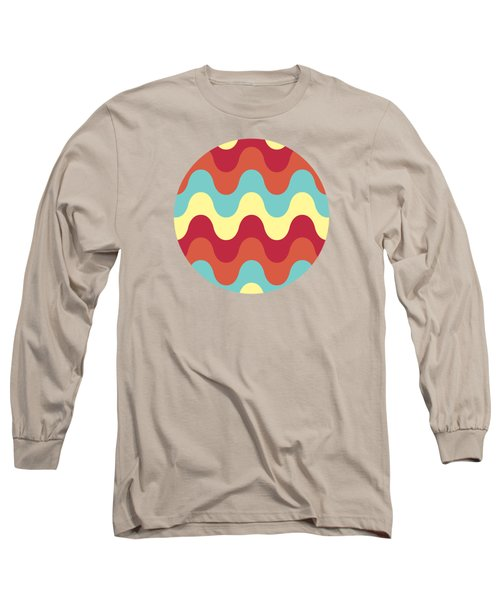 Melting Colors Pattern Long Sleeve T-Shirt