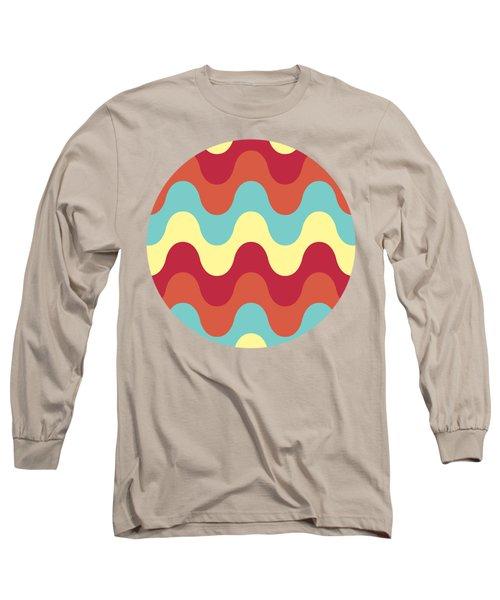 Melting Colors Pattern Long Sleeve T-Shirt