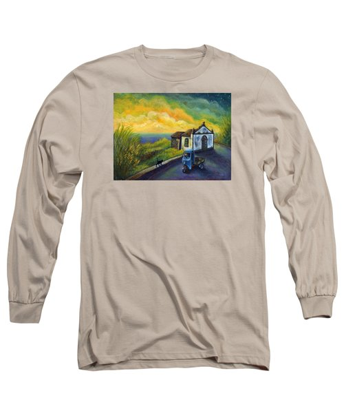 Memories Neath A Yellow Sky Long Sleeve T-Shirt by Retta Stephenson