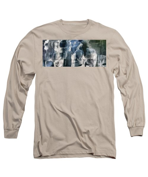 Memory Hotel - Dark Canvas Abstract Art Long Sleeve T-Shirt by Modern Art Prints