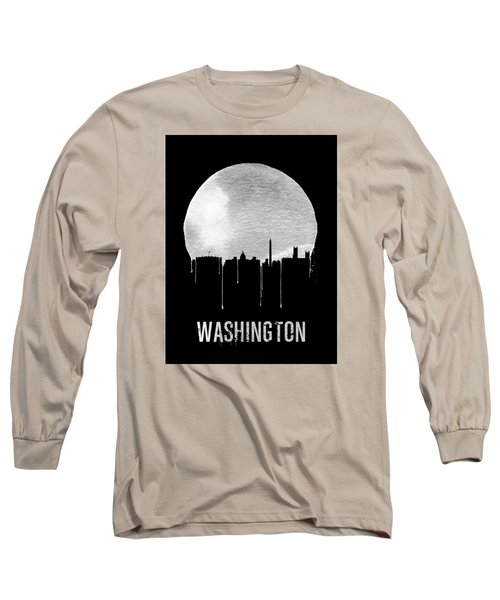Memphis Skyline Black Long Sleeve T-Shirt by Naxart Studio