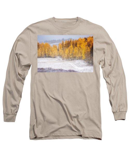 Merging Seasons Long Sleeve T-Shirt by Kristal Kraft