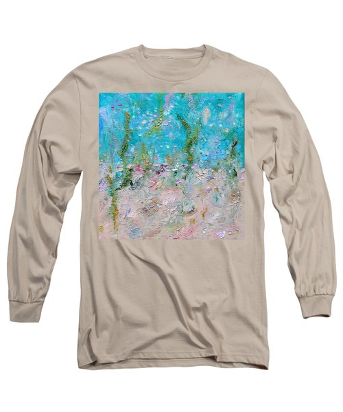 Long Sleeve T-Shirt featuring the painting Mermaid Meditation by Judith Rhue