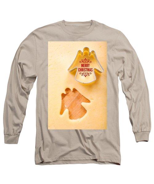 Merry Christmas Angel Cookie Cutter Long Sleeve T-Shirt