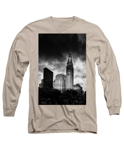 Long Sleeve T-Shirt featuring the photograph Met-life Tower by Marvin Spates