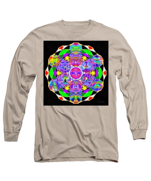 Long Sleeve T-Shirt featuring the digital art Metatron's Cosmic Ascension by Derek Gedney