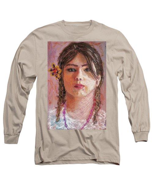 Mexican Girl Long Sleeve T-Shirt