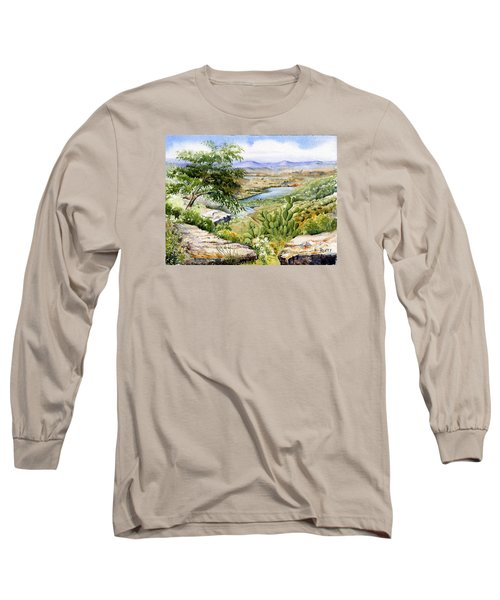 Mexican Landscape Watercolor Long Sleeve T-Shirt