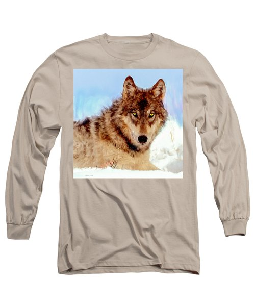 Mexican Wolf Painting Long Sleeve T-Shirt
