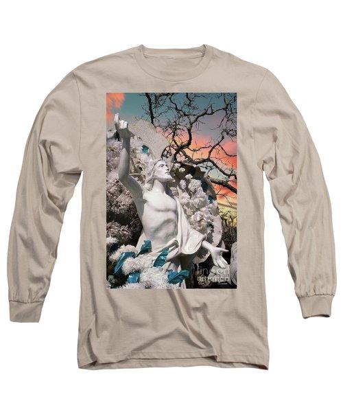 Mexico Cemetery Sculpture Photograph - Resurrection T Dawn Long Sleeve T-Shirt