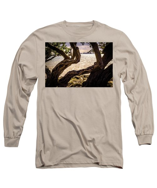 Miami At A Distance Long Sleeve T-Shirt by Camille Lopez