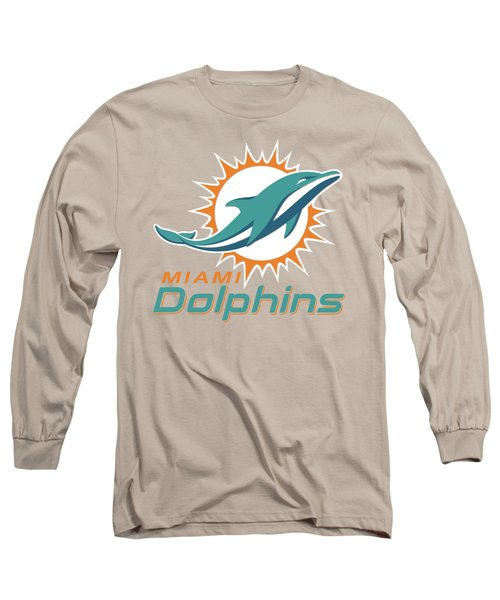 Miami Dolphins Translucent Steel Long Sleeve T-Shirt