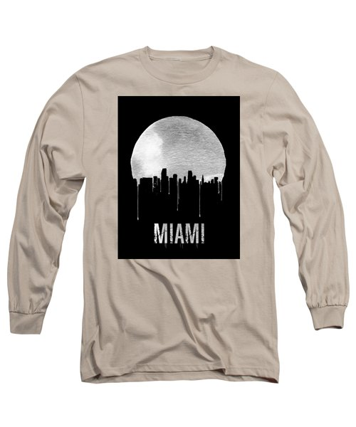 Miami Skyline Black Long Sleeve T-Shirt