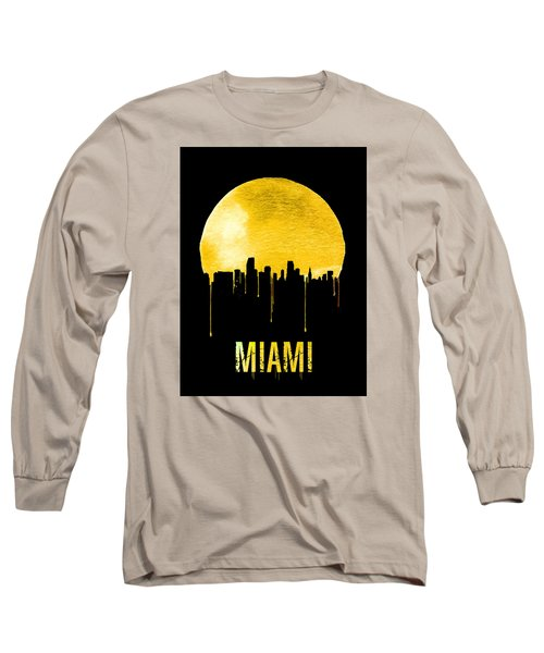 Miami Skyline Yellow Long Sleeve T-Shirt