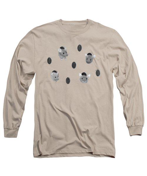 Mice In Swiss Cheese Long Sleeve T-Shirt