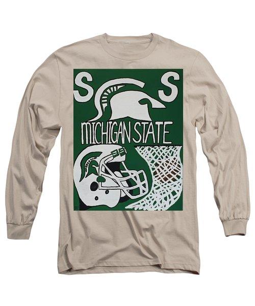 Michigan State Spartans Long Sleeve T-Shirt by Jonathon Hansen