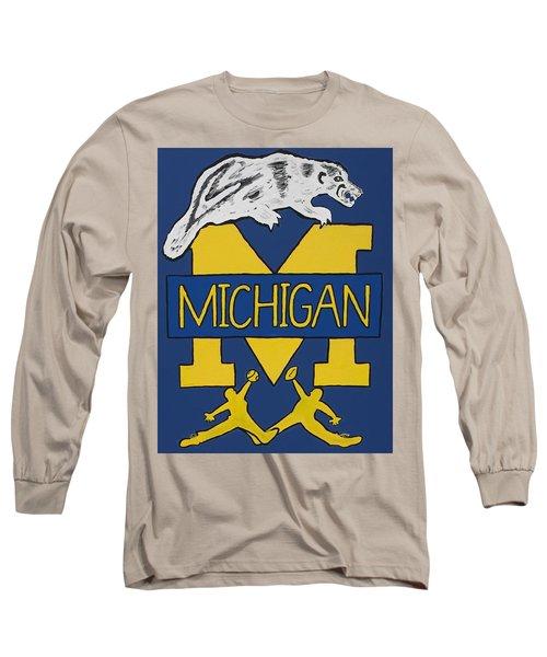 Michigan Wolverines Long Sleeve T-Shirt by Jonathon Hansen