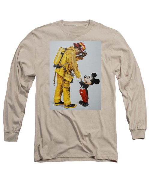 Mickey And The Bravest Long Sleeve T-Shirt by Rob Hans