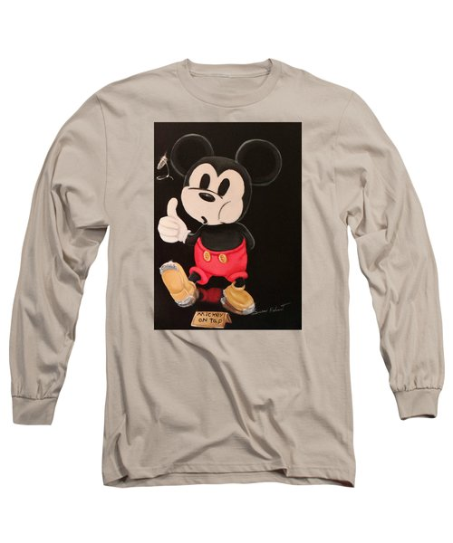 Long Sleeve T-Shirt featuring the painting Mickey On Tap by Susan Roberts