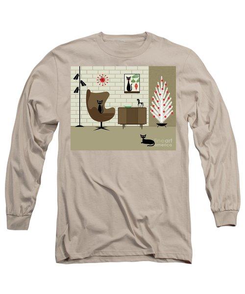 Mid-century Christmas Long Sleeve T-Shirt