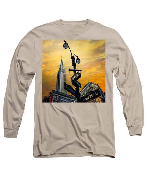Long Sleeve T-Shirt featuring the photograph Midtown Sunset by Chris Lord