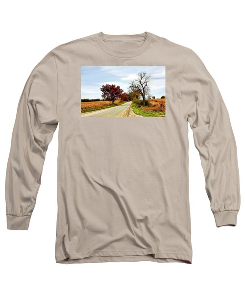Midwest Autumn  Long Sleeve T-Shirt by Pat Cook
