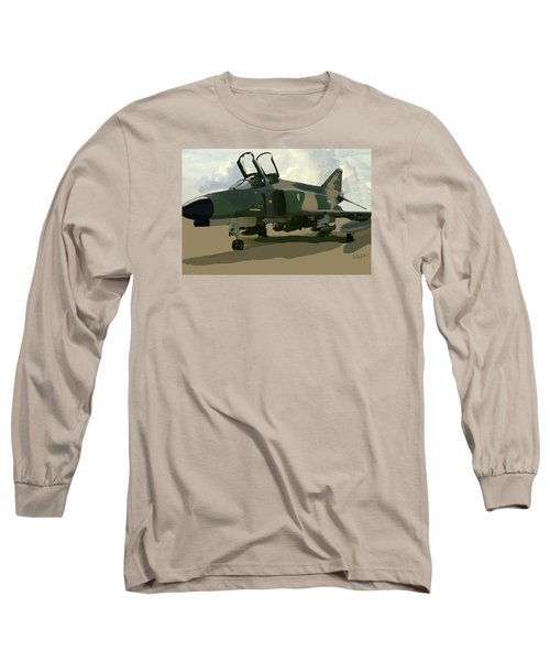 Long Sleeve T-Shirt featuring the digital art Mig Killer by Walter Chamberlain