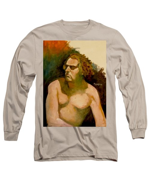Long Sleeve T-Shirt featuring the painting Mike. by Ray Agius