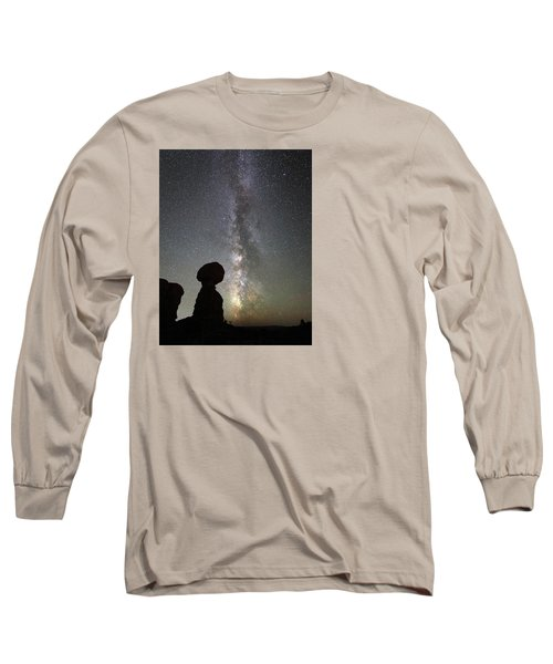 Milky Way Over Arches Np Three Long Sleeve T-Shirt