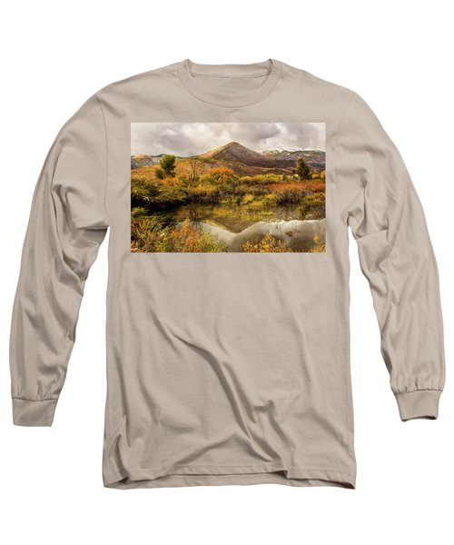 Mill Canyon Peak Reflections Long Sleeve T-Shirt