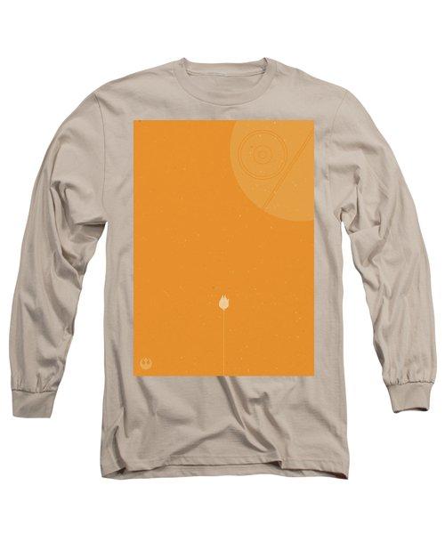 Millennium Falcon Meets Death Star Long Sleeve T-Shirt