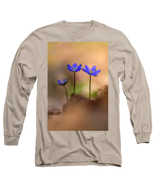 Long Sleeve T-Shirt featuring the photograph Minimalistic Impresion With Liverworts by Jaroslaw Blaminsky