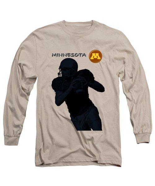 Long Sleeve T-Shirt featuring the digital art Minnesota Football by David Dehner