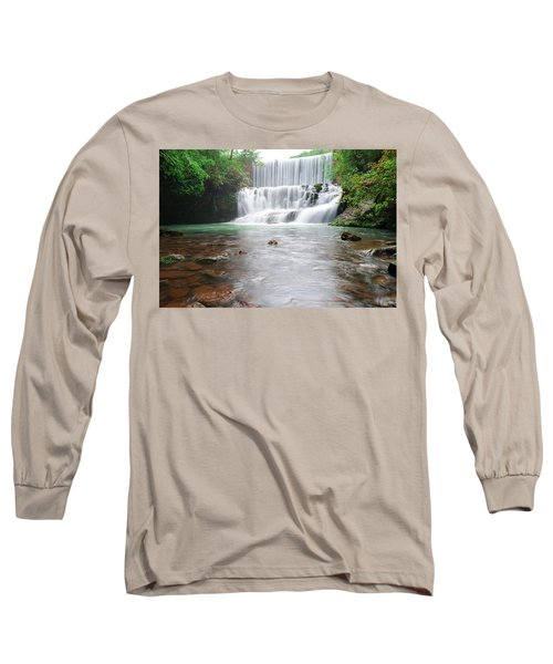 Long Sleeve T-Shirt featuring the photograph Mirror Lake Falls 2 by Renee Hardison