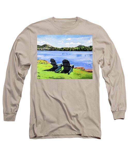 Mirror Lake Lake Placid New York Long Sleeve T-Shirt