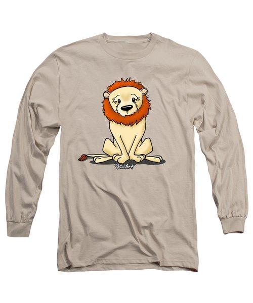 Lion Peaceful Reflection  Long Sleeve T-Shirt