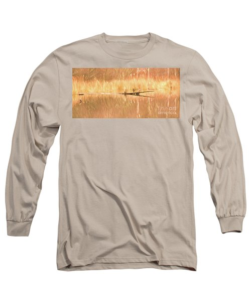 Mirrored Reflection Long Sleeve T-Shirt by Laurinda Bowling