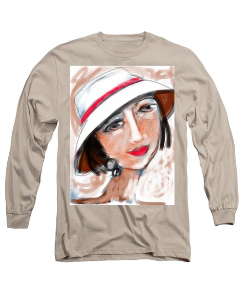 Long Sleeve T-Shirt featuring the digital art Miss Mary by Elaine Lanoue