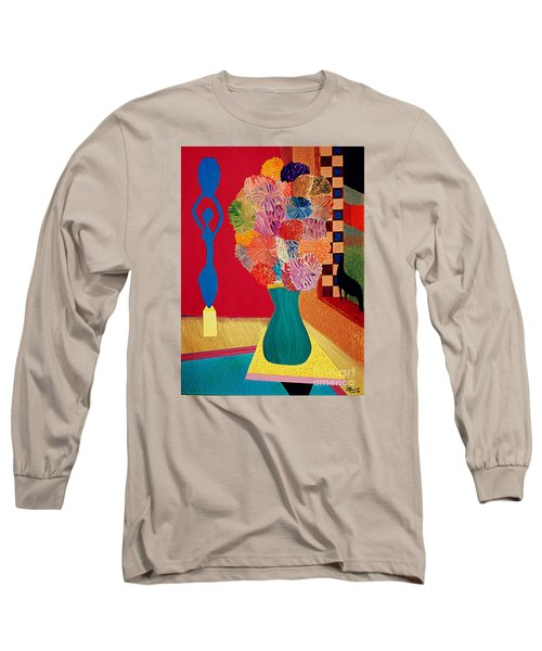 Long Sleeve T-Shirt featuring the painting Missing Henri by Bill OConnor