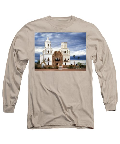 Mission San Xavier Del Bac Long Sleeve T-Shirt by Donna Greene
