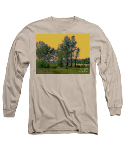 Mississippi Estuary Long Sleeve T-Shirt by Nancy Kane Chapman