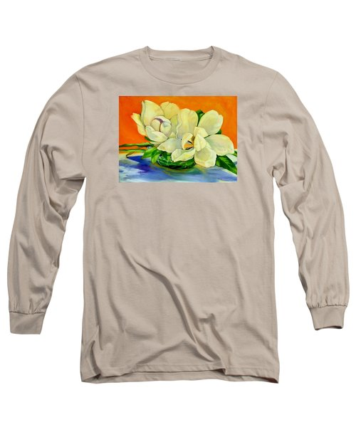 Mississippi Magnolias Long Sleeve T-Shirt by Jeanette Jarmon