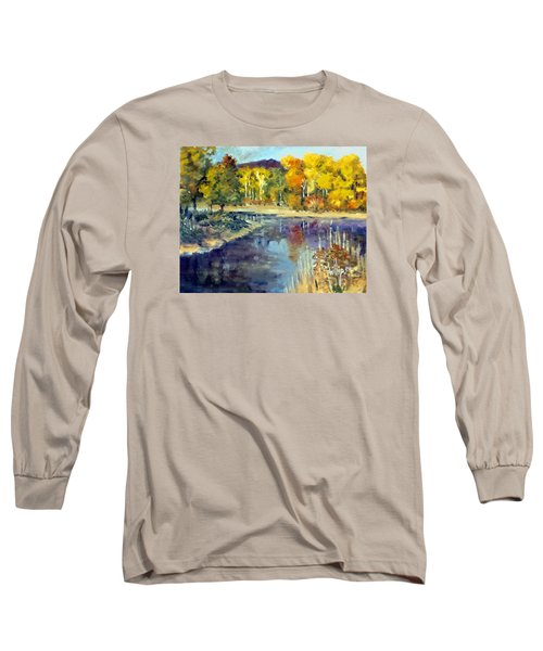 Long Sleeve T-Shirt featuring the painting Mississippi Mix by Jim Phillips