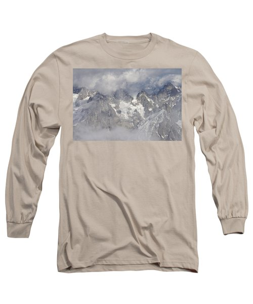 Mist And Clouds At Auiguille Du Midi Long Sleeve T-Shirt