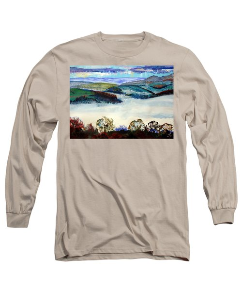 Mist In The Exe Valley In Exeter Devon Long Sleeve T-Shirt